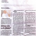 Interview in Sydsvenskan August 24 2012