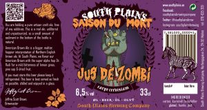 South Plains Jus Zombi Original Label from 2015