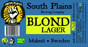 The 2018 Blond Lager label
